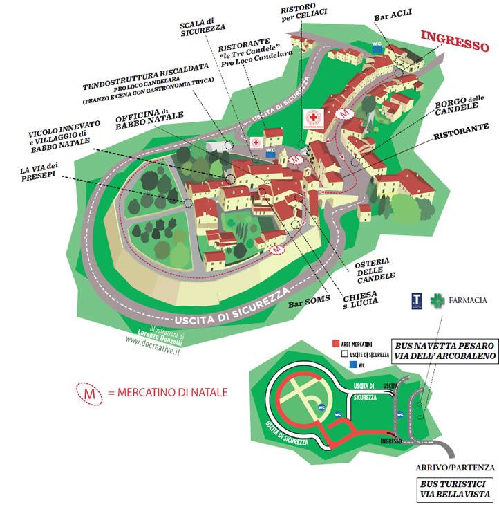 Mappa Candele a Candelara